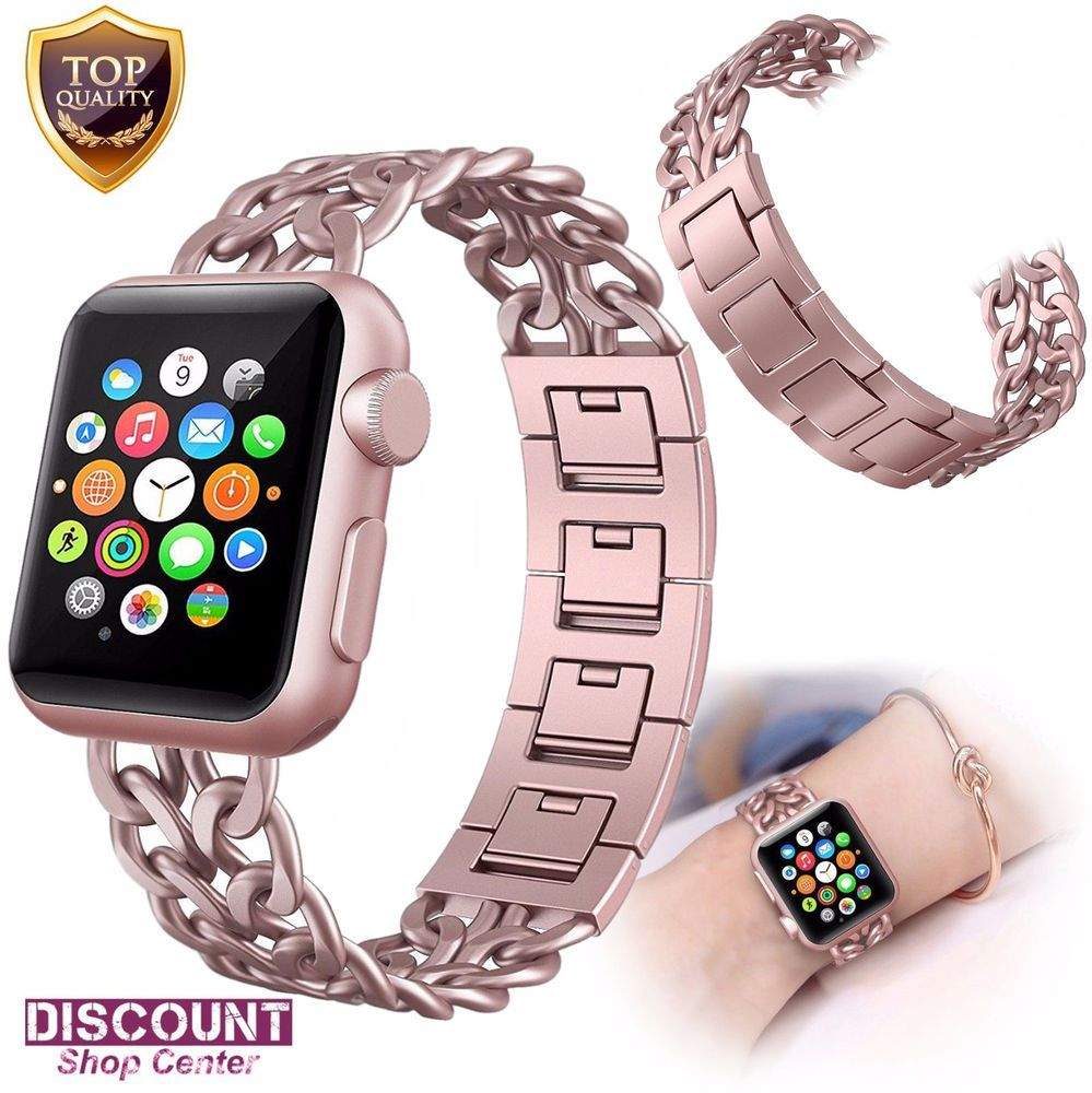 For Apple Watch Bracelet Strap Series 3 2 1 Band 38mm Stainless Steel Rose Gold Forapplewatchbracele Apple Watch Apple Watch Accessories Apple Watch Bracelets