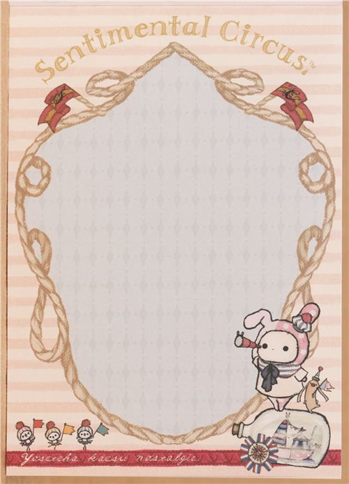 kawaii Memo Pad Sentimental Circus rabbit maritime Japan 3