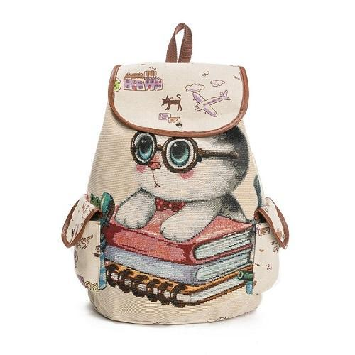 6aebec683084 Products · Casual Cat Printed Backpack