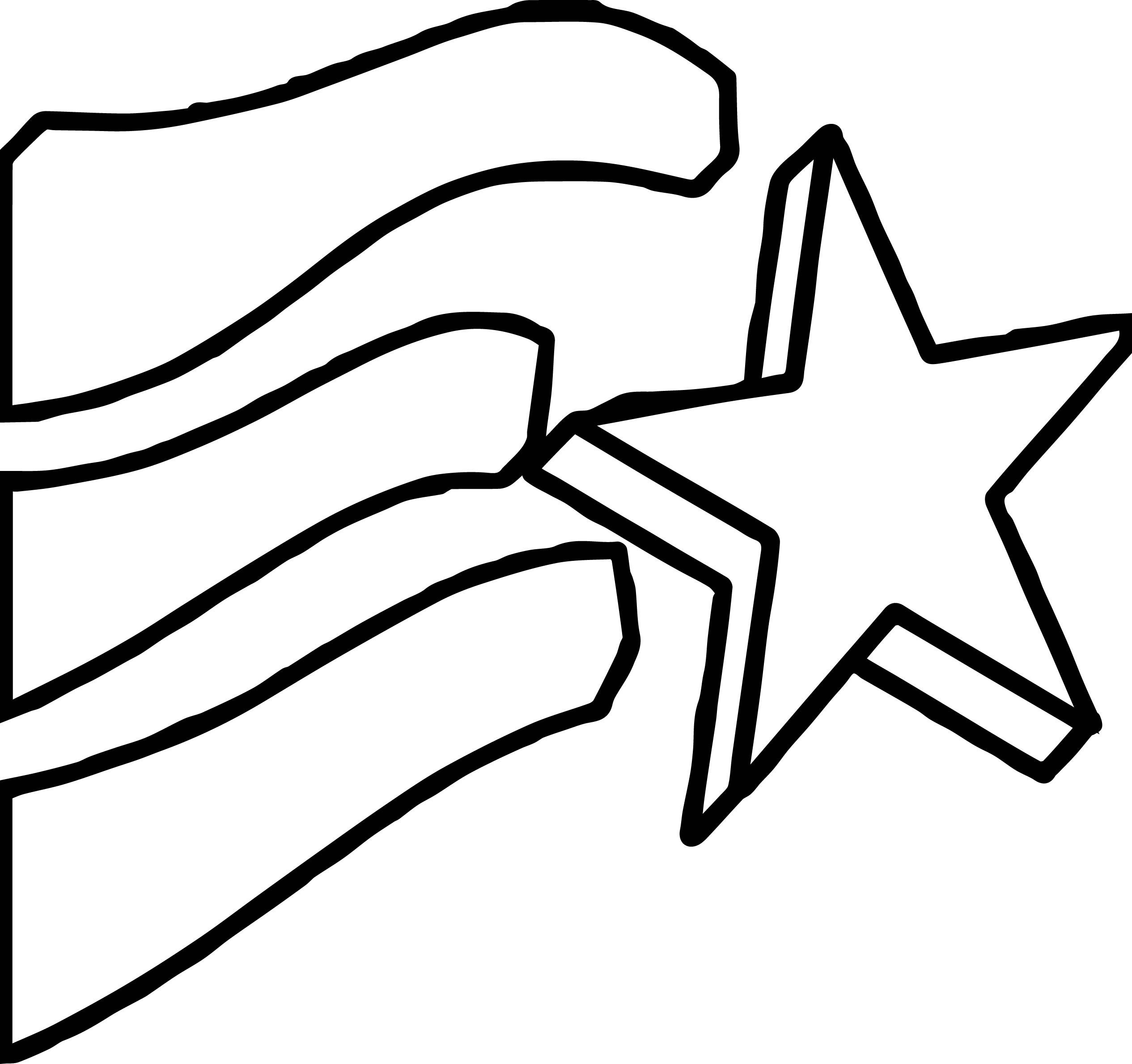 Cool 4th Of July Coming Star Coloring Page