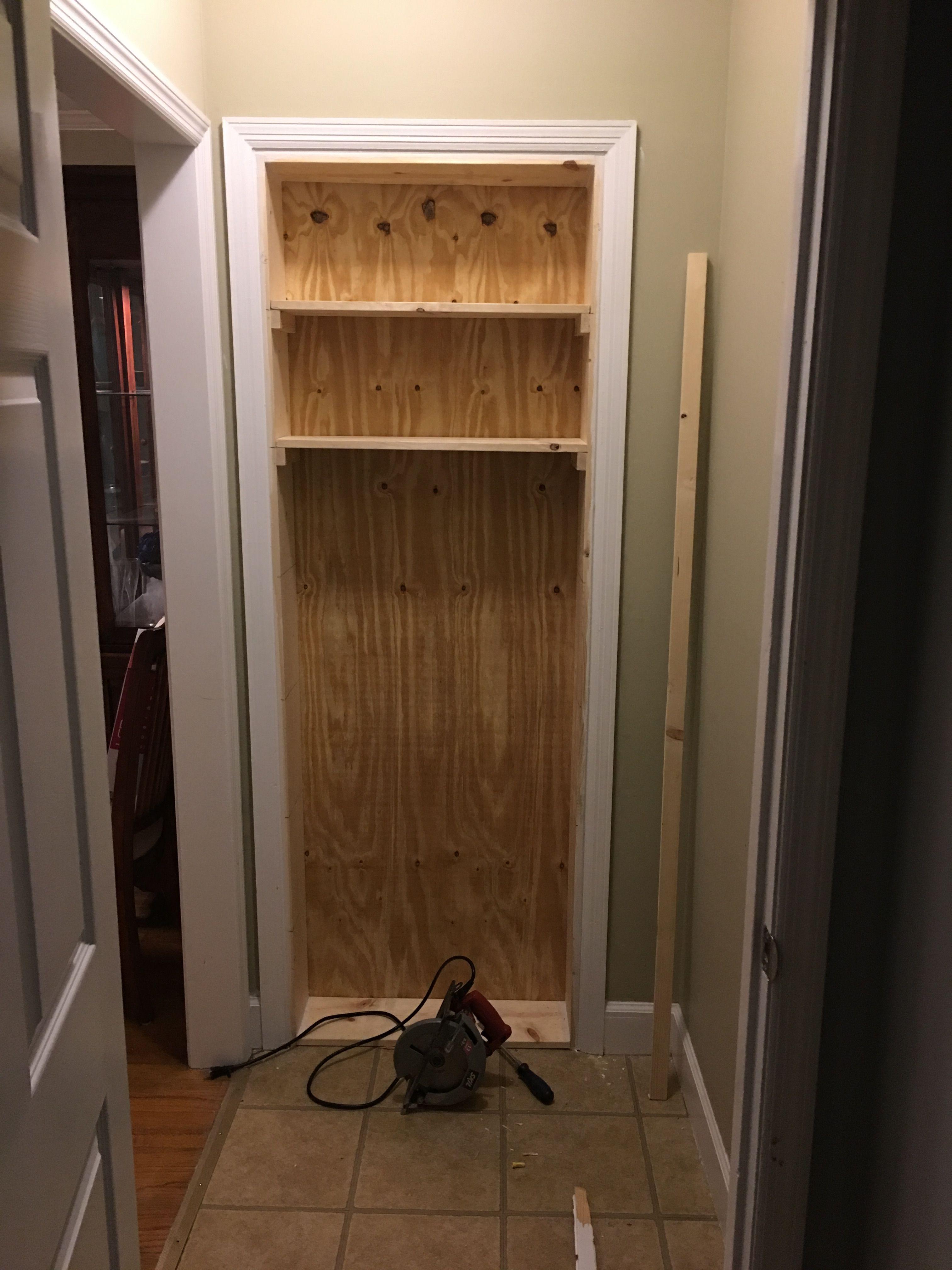 Old Door Way To Bookshelf Conversion.