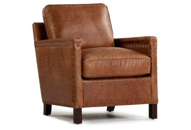 Incredible 1199 00 Rhonan Leather Chair Saddle Brown Shopping Utah Creativecarmelina Interior Chair Design Creativecarmelinacom