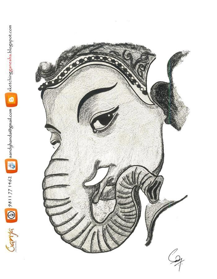 Simple pencil sketches of ganesha step by step google search