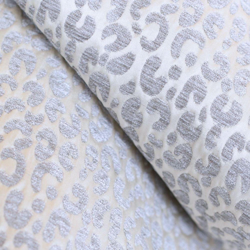Snow Leopard Silver Leopard Fabric Leopard Decor Leopard Print Fabric
