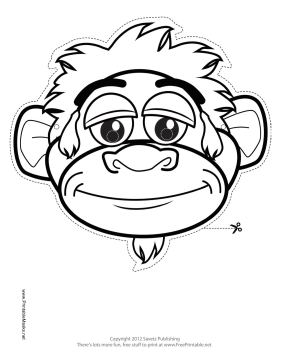This Monkey Outline Mask features the outline of a playful