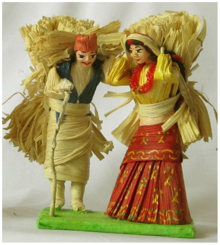 Nepalese Handicraft Made From The Residue Of Maize Handicraft