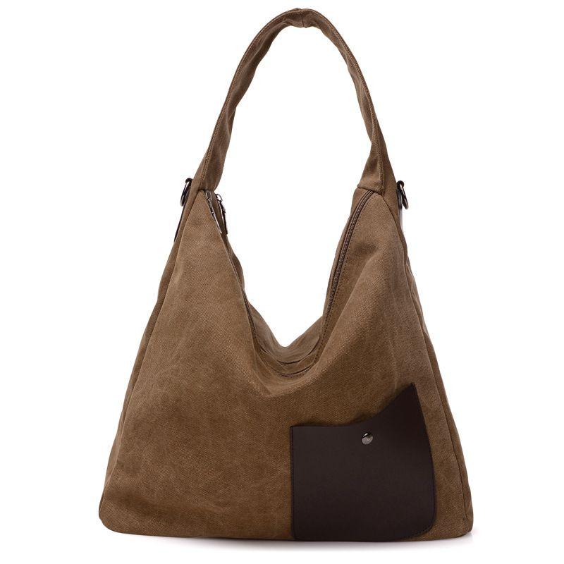 New Shoulder Bag Women Large Capacity Women Bag Canvas Bags Handbags Women  Famous Brands Vintage Top a1fc1aff26c67