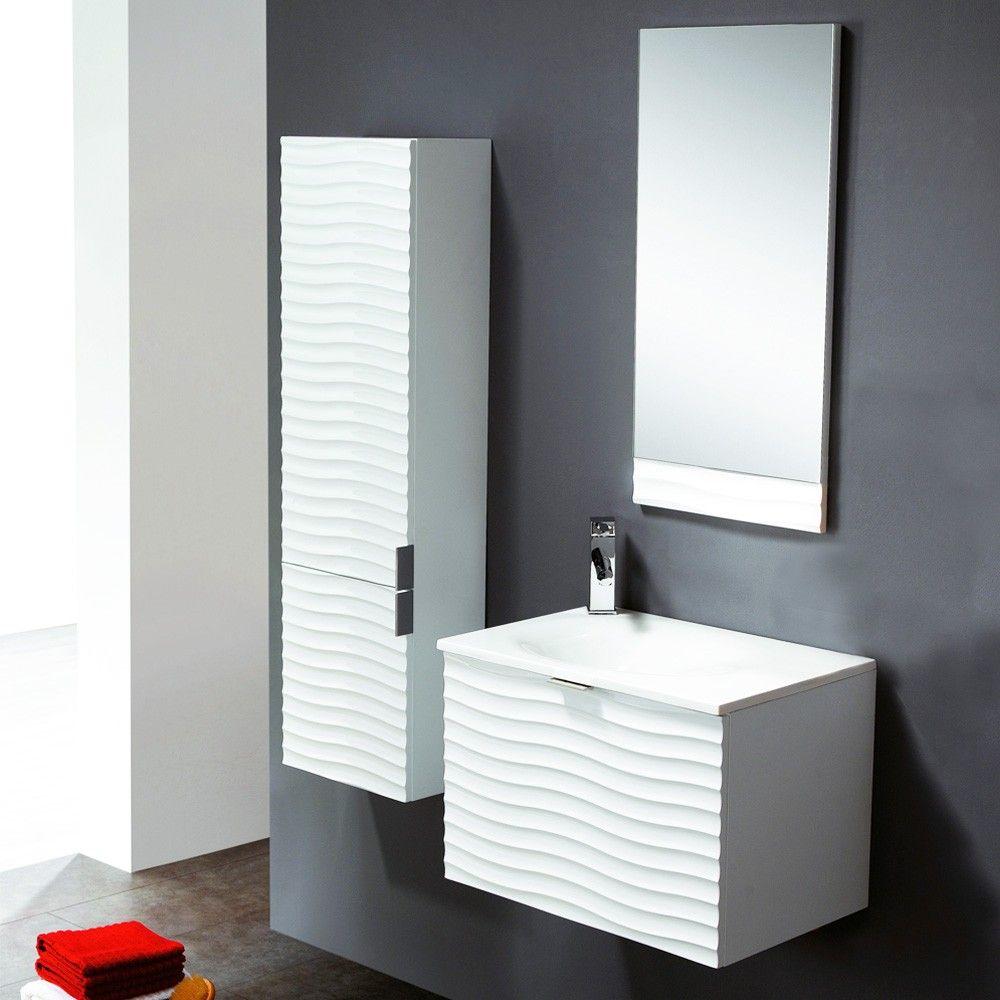 Conjunto mueble de ba o bath verona 60 blanco hogar for Decoracion mueble bano