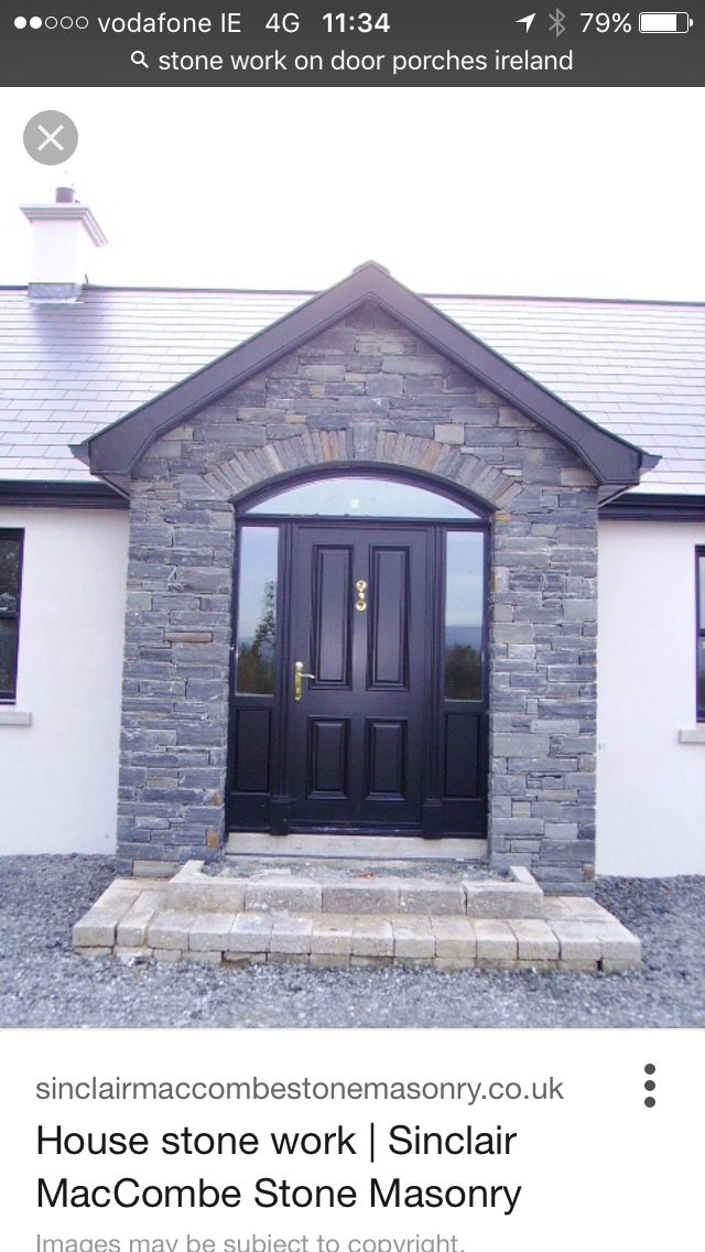 Nice Stone Front Door House With Porch House Exterior Porch Ireland