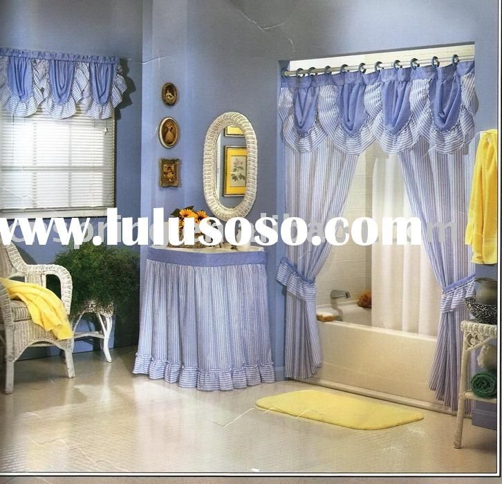 Swag Style Shower Curtains | Double Swag Shower Curtain Set