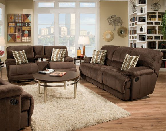 Champion Chocolate Reclining Sofa Loveseat Living Rooms American Freight Furniture