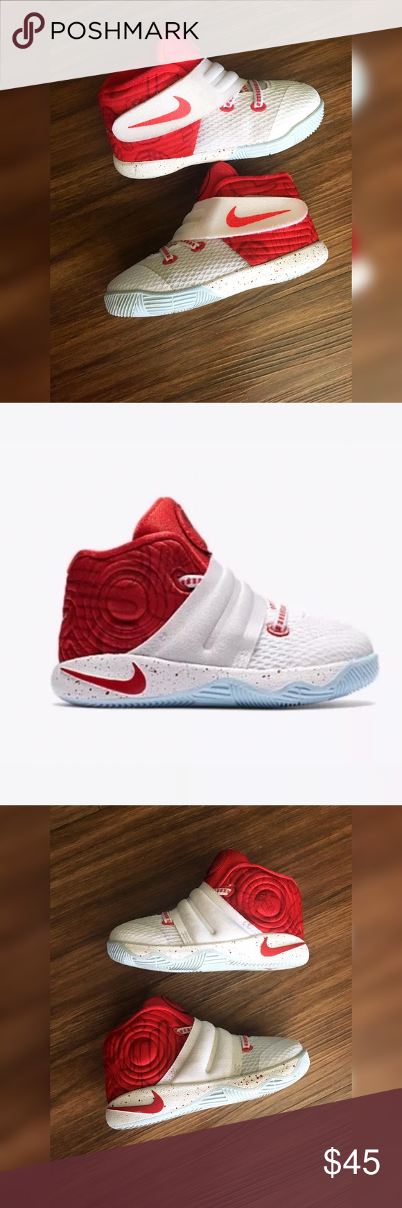 030ffb010e30 NEW Kyrie Irving 2 s Red White Toddler 6C Great condition no signs of wear  at all Clean inside and out Size 6C Basketball shoes New Nike Shoes Sneakers