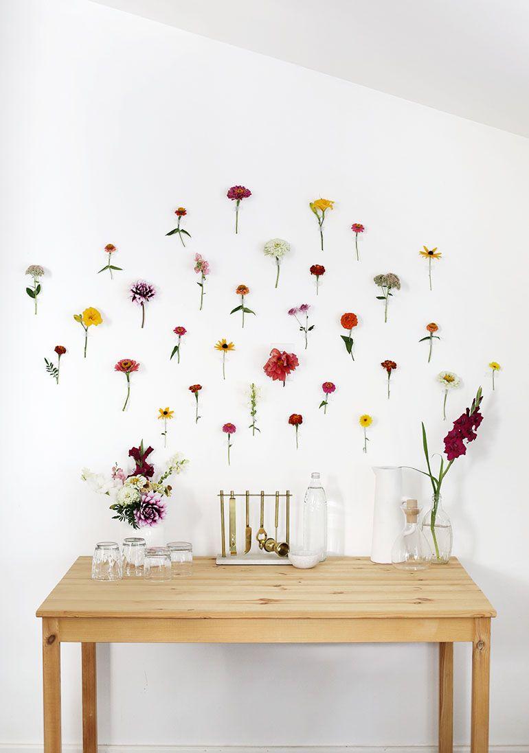 Diy Floral Wall Backdrop Wall Backdrops Floral Wall Decor