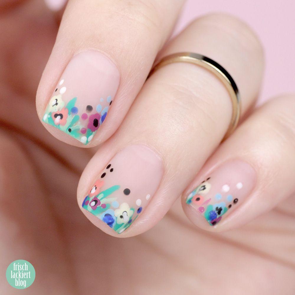 {Frischlackiert-Challenge} BLUMIG – Blüten auf den Nägeln