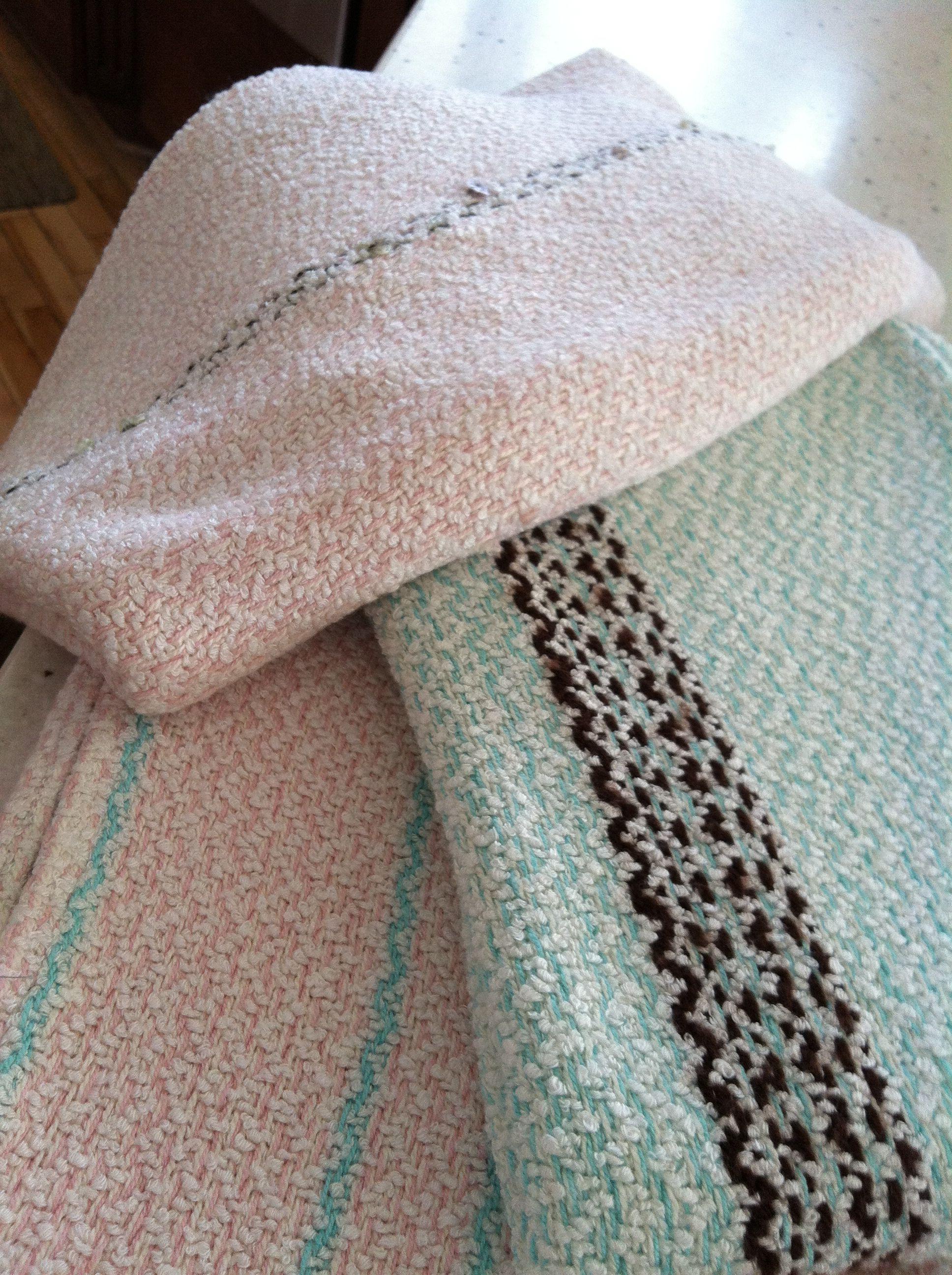 Hand woven receiving blankets