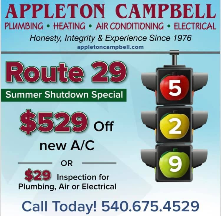 He Route 29 Shutdown Begins Today Are You Ready To Save 529 Off Your New Air Conditioning System Air Heating Appleton Air Conditioning System