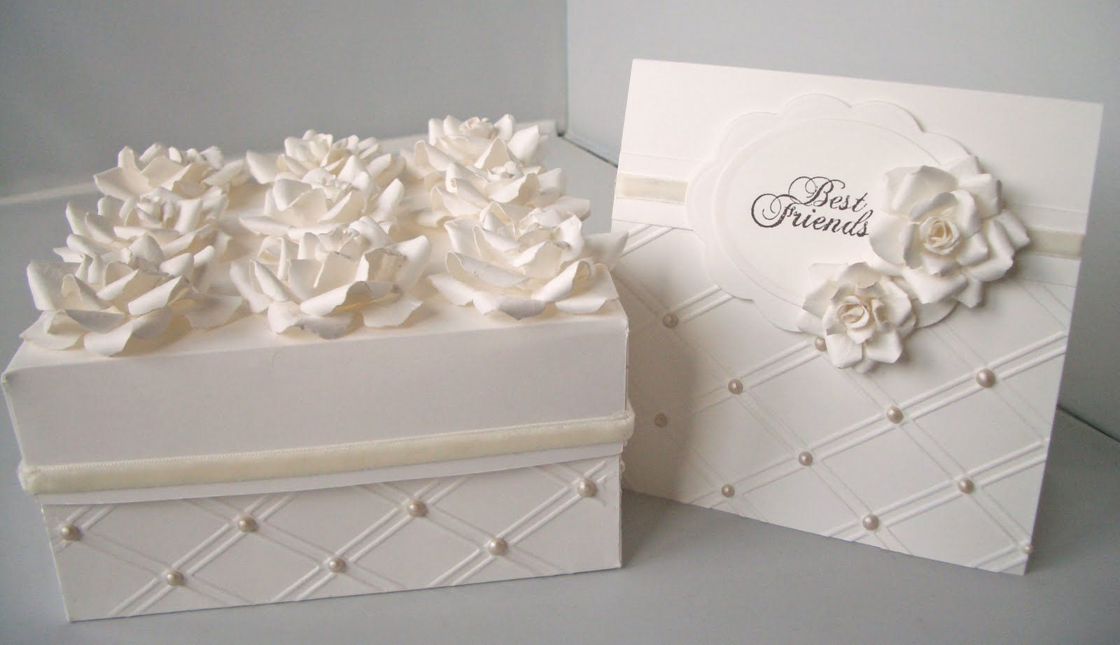 Elegant Cake Box Designs : Spellbinders Rose Creations and a TI from Sizzix ...