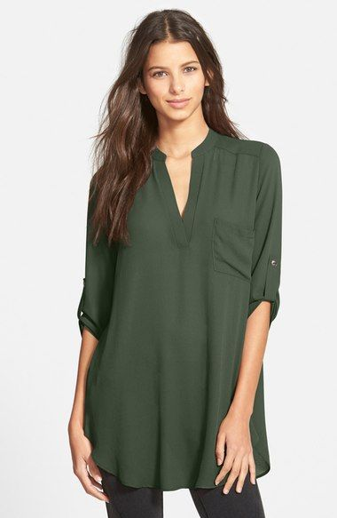 0cef853c500 Lush Perfect Roll-Tab-Sleeve Tunic - Nordstrom | my style | Tunic ...