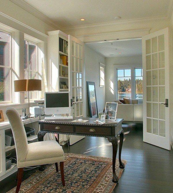 vielseitig einsetzbare Fenstertüren-Flügeltür weiß-gestrichen home