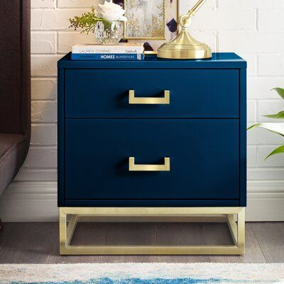 Nicole Miller Raees 2 Drawer Nightstand | Wayfair