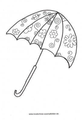 Malvorlagen Gegenstande Gegenstand Ausmalen Ausmalen Regenschirm Kunst Ausmalbilder