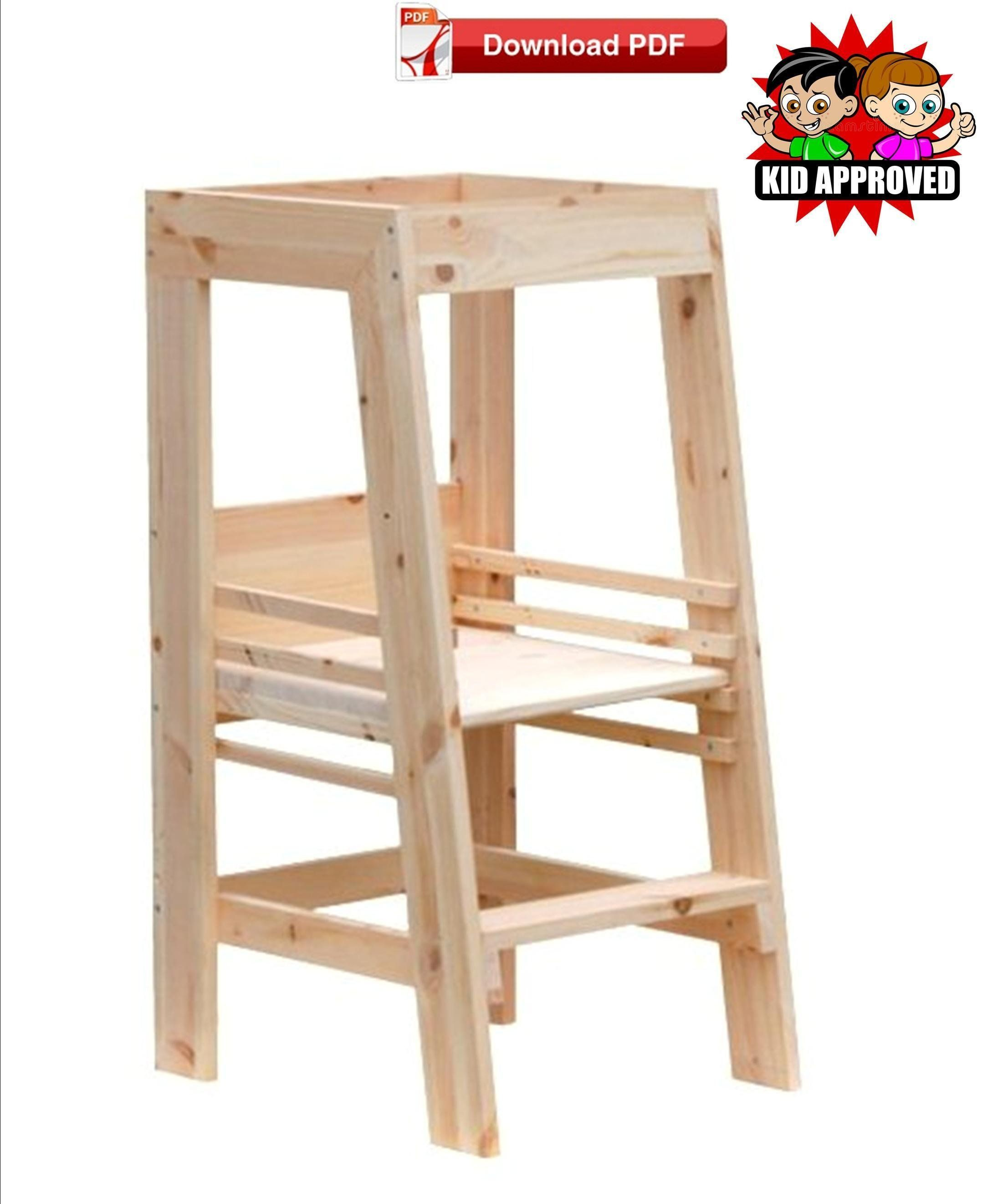 Excellent Adjustable Height Learning Tower Plan Learning Tower Plan Cjindustries Chair Design For Home Cjindustriesco