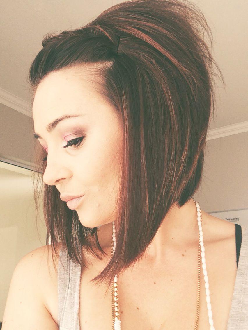 Brunette bob hairstyle fetish