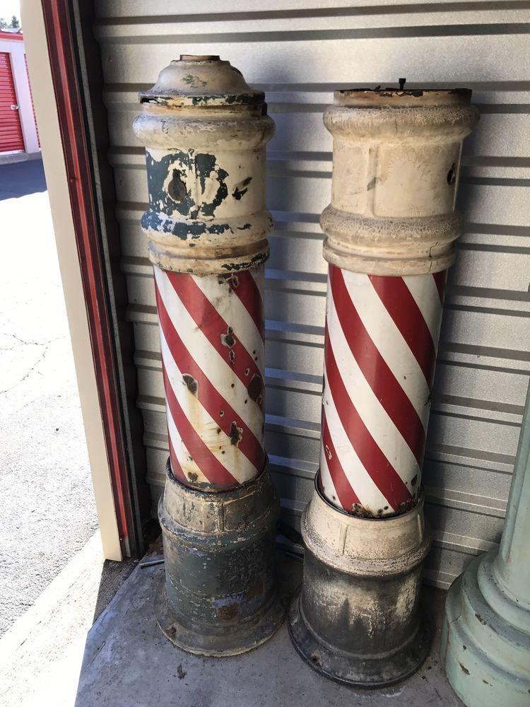 Antique theo a kochs barber pole parts barber pole