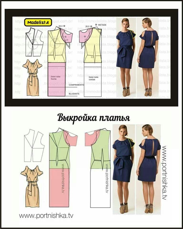 Dress, patterns instructions | sewing projects | Pinterest | Dress ...