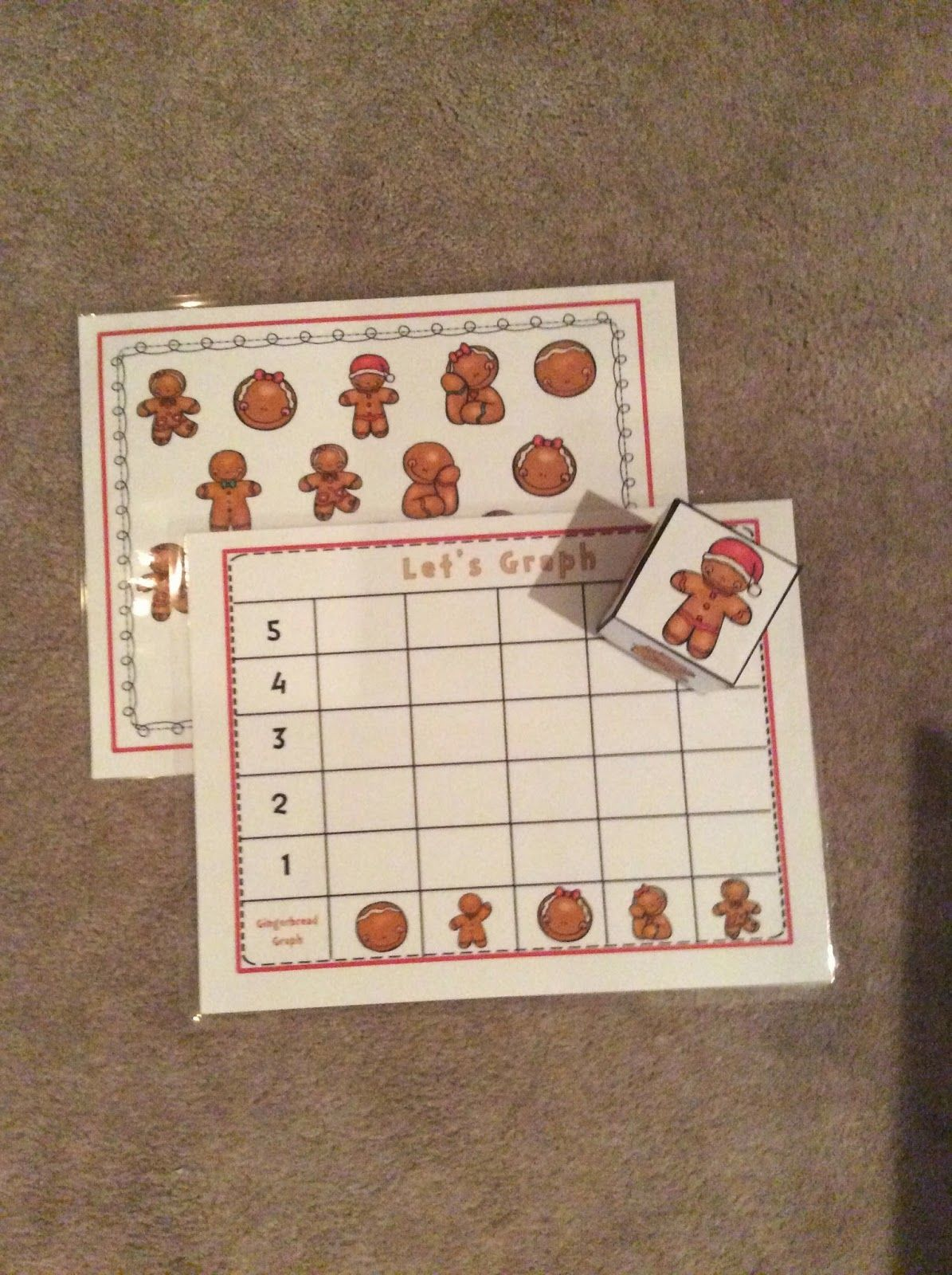 Gingerbread Graphing Preschool Printables