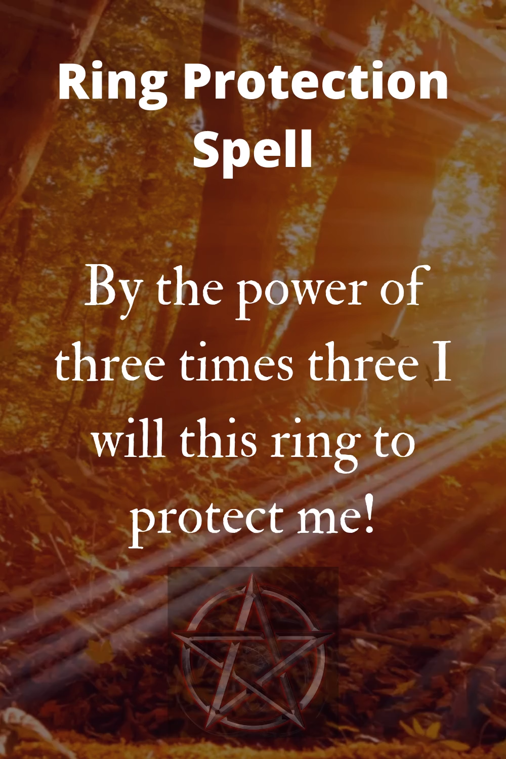 Ring Protection Spell