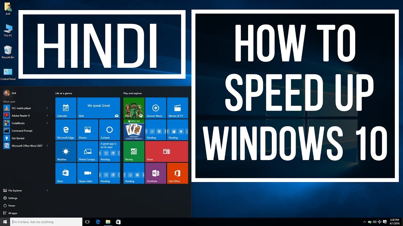 How To Speed Up WINDOWS 10 Performance in HINDI (Best