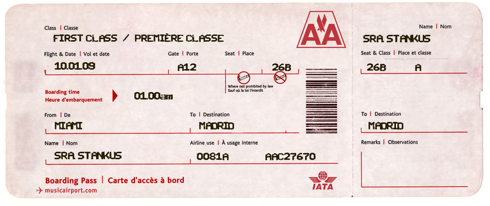 Fake Boarding Pass Beginning Of The Year When Students First