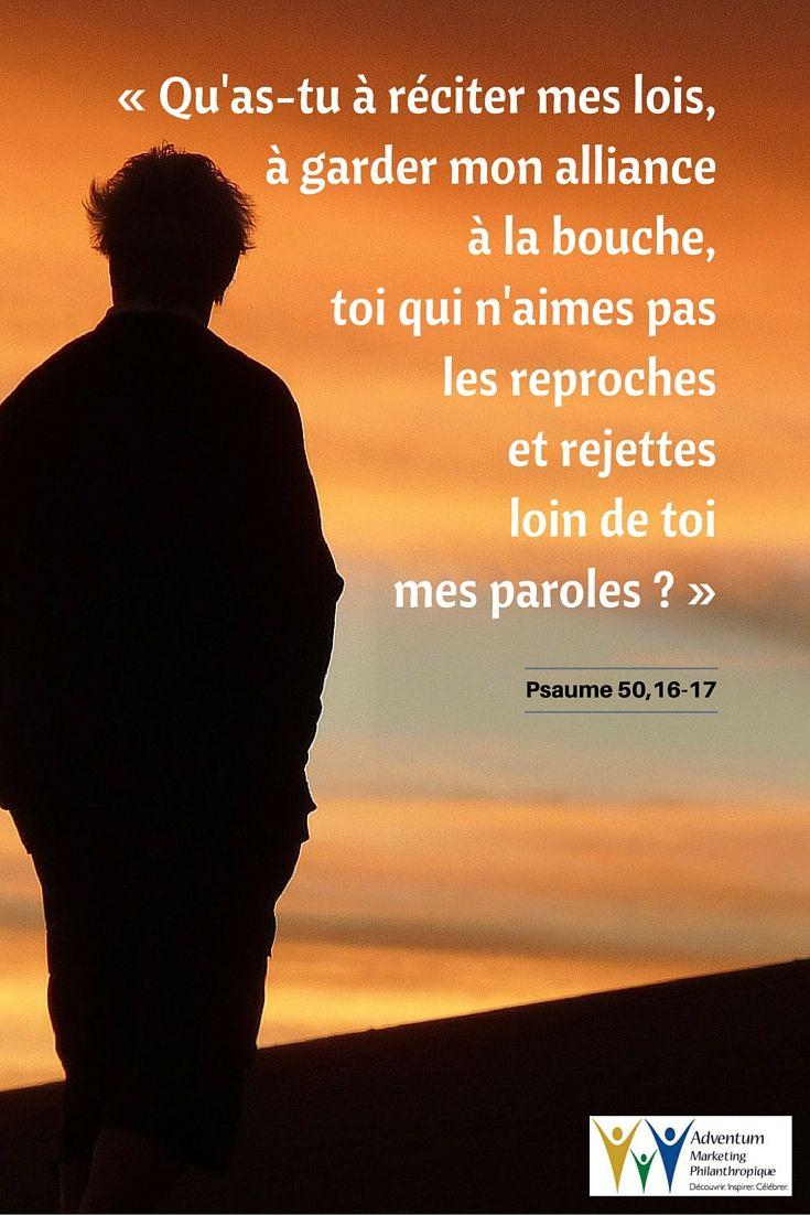 27 juin 2016 – Psaume 50,16-17 | Psaume 50, Psaumes, Texte biblique