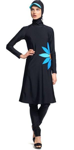 Burkini Modesty Muslim Swimwear Swimsuit Islamic Cap Beachwear Swimming Suit