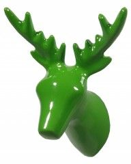 Dear Deer, stilia, green, to hang your jacket on!