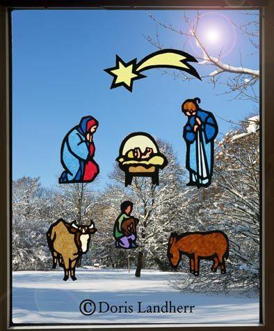 Krippen Fensterbild Weihnachten Krippe Mit 7 Motiven Ein Designer Fensterbilder Weihnachten Basteln Fensterbilder Weihnachten Weihnachten Basteln Krippe