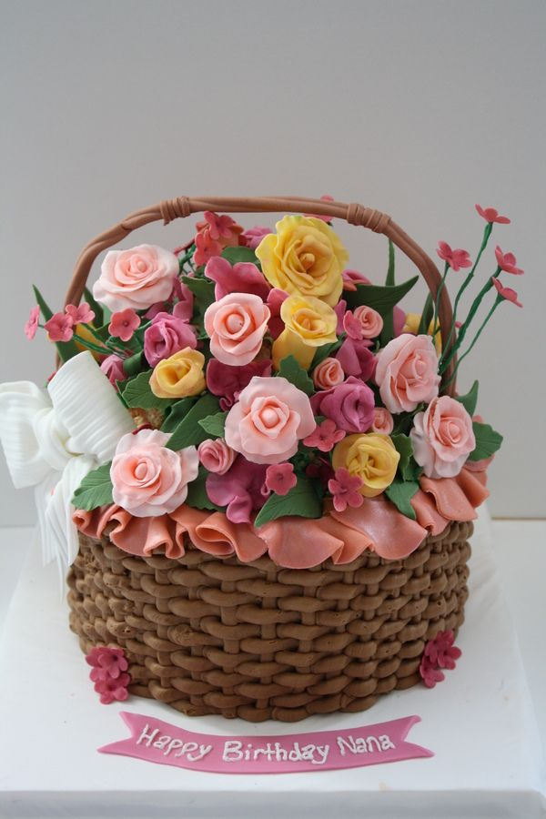 What An Amazing Basket Of Flowers Cake Cakes So Nice You