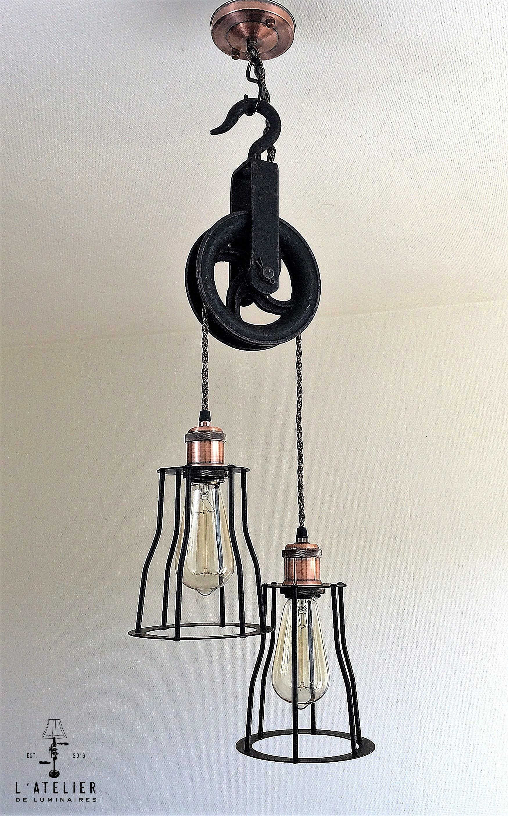 Wall Pulley Light Vintage Industrial Cast Iron 1 Wheel Wall