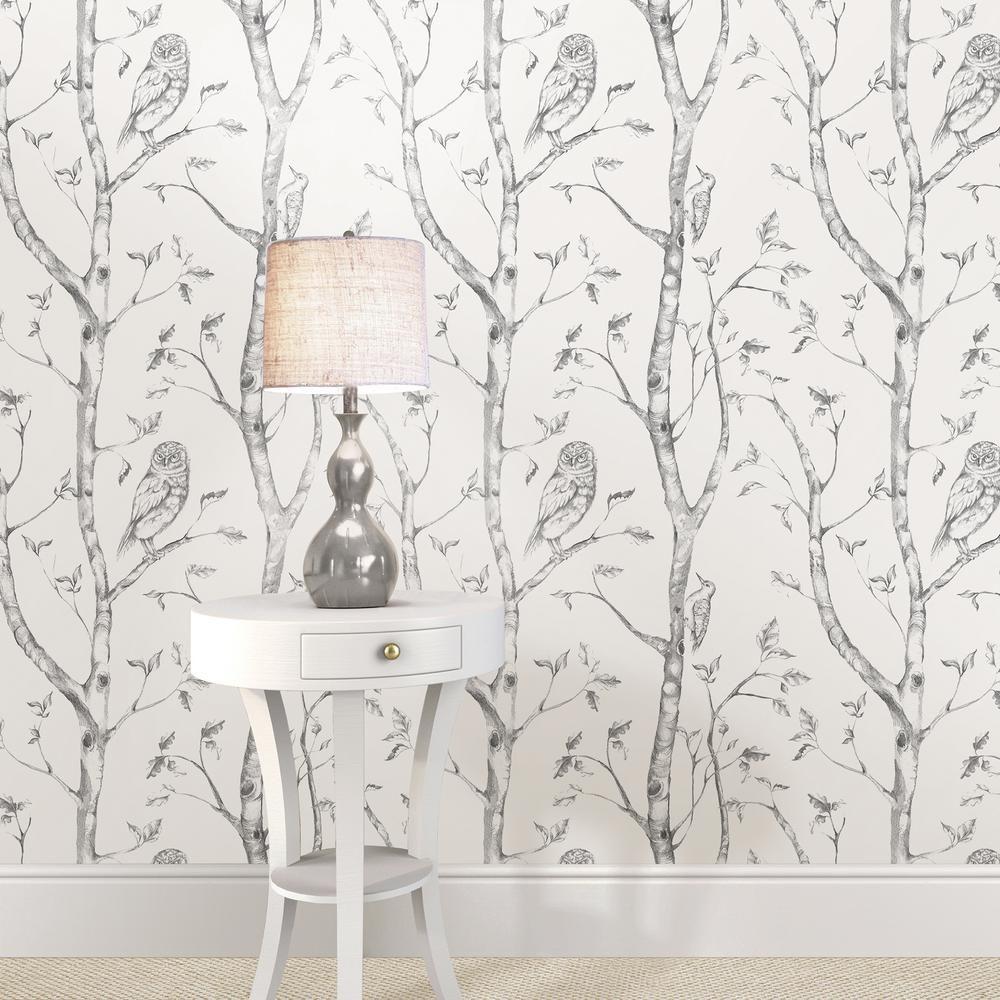 Nuwallpaper Grey Woods Peel And Stick Wallpaper Grey And White Wallpaper Wood Wallpaper Nuwallpaper