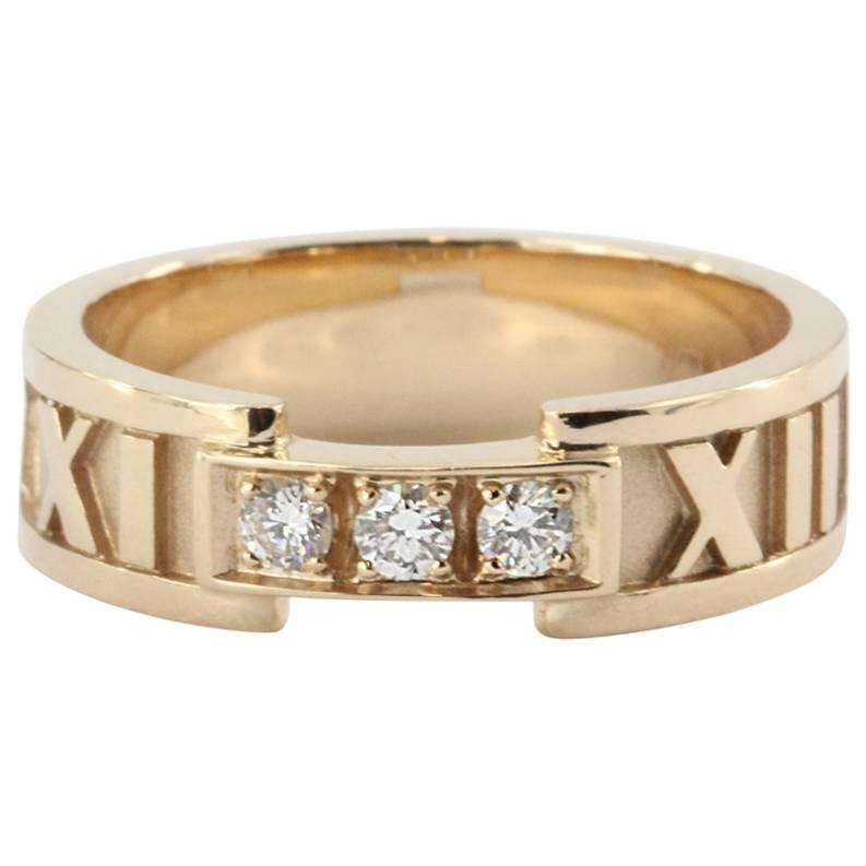 Tiffany & Co Diamond Gold Atlas Ring