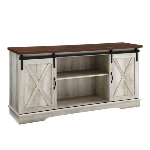 26+ White farmhouse cabinet with sliding door info