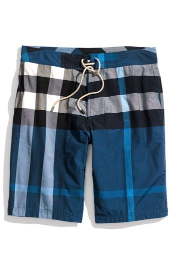 9081575a09 Burberry Brit Check Print Board Shorts (Men) available at Nordstrom ...