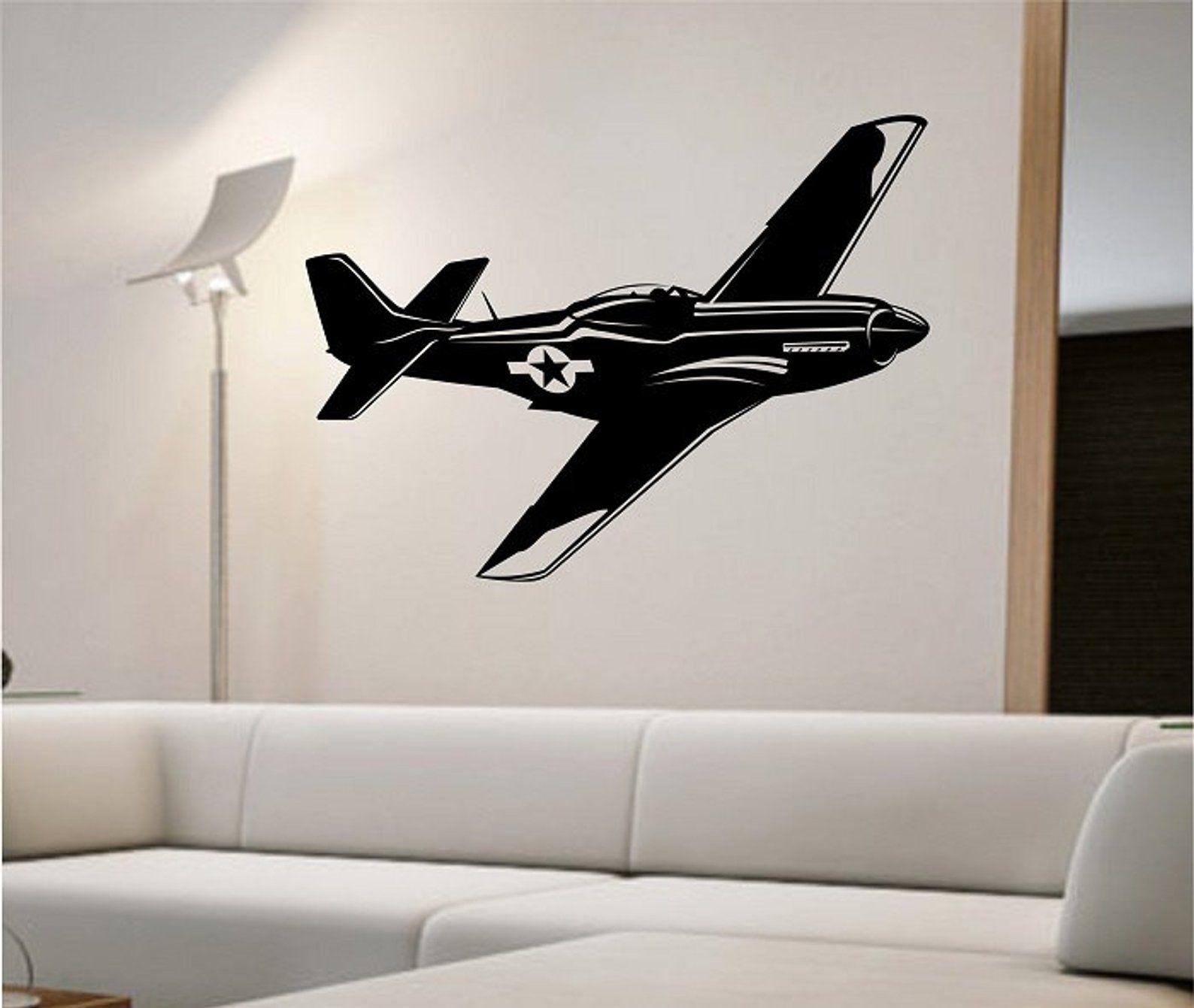 Fighter Jet Wall Decal Sticker Art Decor Bedroom Design Mural Etsy Sticker Art Wall Decal Sticker Wall Decals