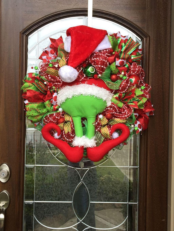 Grinch Wreath Christmas Decoration Grinch christmas