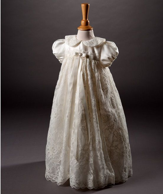 e4331ed4eb2 Baby Girls Ivory Millie Grace Designer 'Miley' Christening Gown & Bonnet,  traditional English lace robe, perfect christening wear for their special  day, ...
