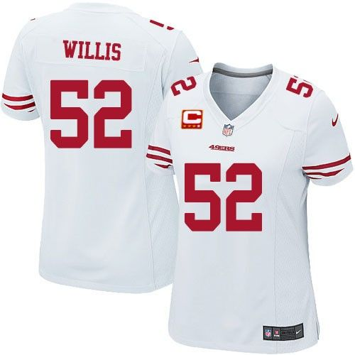 Patrick Willis Elite Jersey-80%OFF Nike C Patch Patrick Willis Elite Jersey at 49ers Shop. (Elite Nike Women's Patrick Willis White C Patch Jersey) San Francisco 49ers Road #52 NFL Easy Returns.
