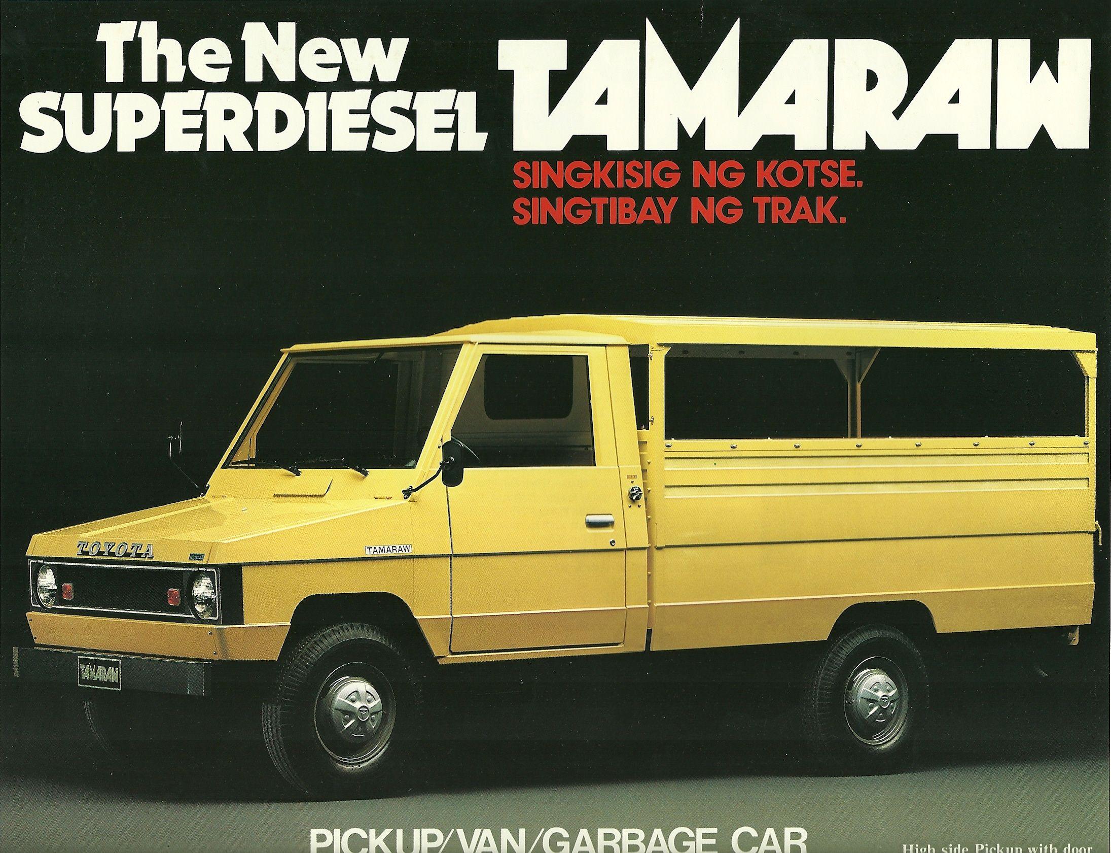 Toyota diesel tamaraw pickup van garbage car toyotadieselphilippines advertising