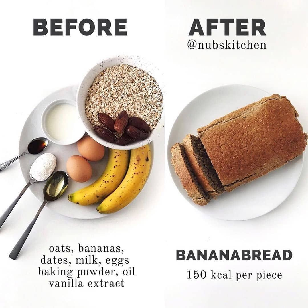Banana  bread   yes please... Heres an easy  bread recipe by @nubskitchen steps below...... recipes under 300 calories|very low calorie recipes|low calorie recipe|low calorie drinks|healthy low calorie recipes|low calorie desserts healthy|600 calorie mealsrecipes #400caloriemeals