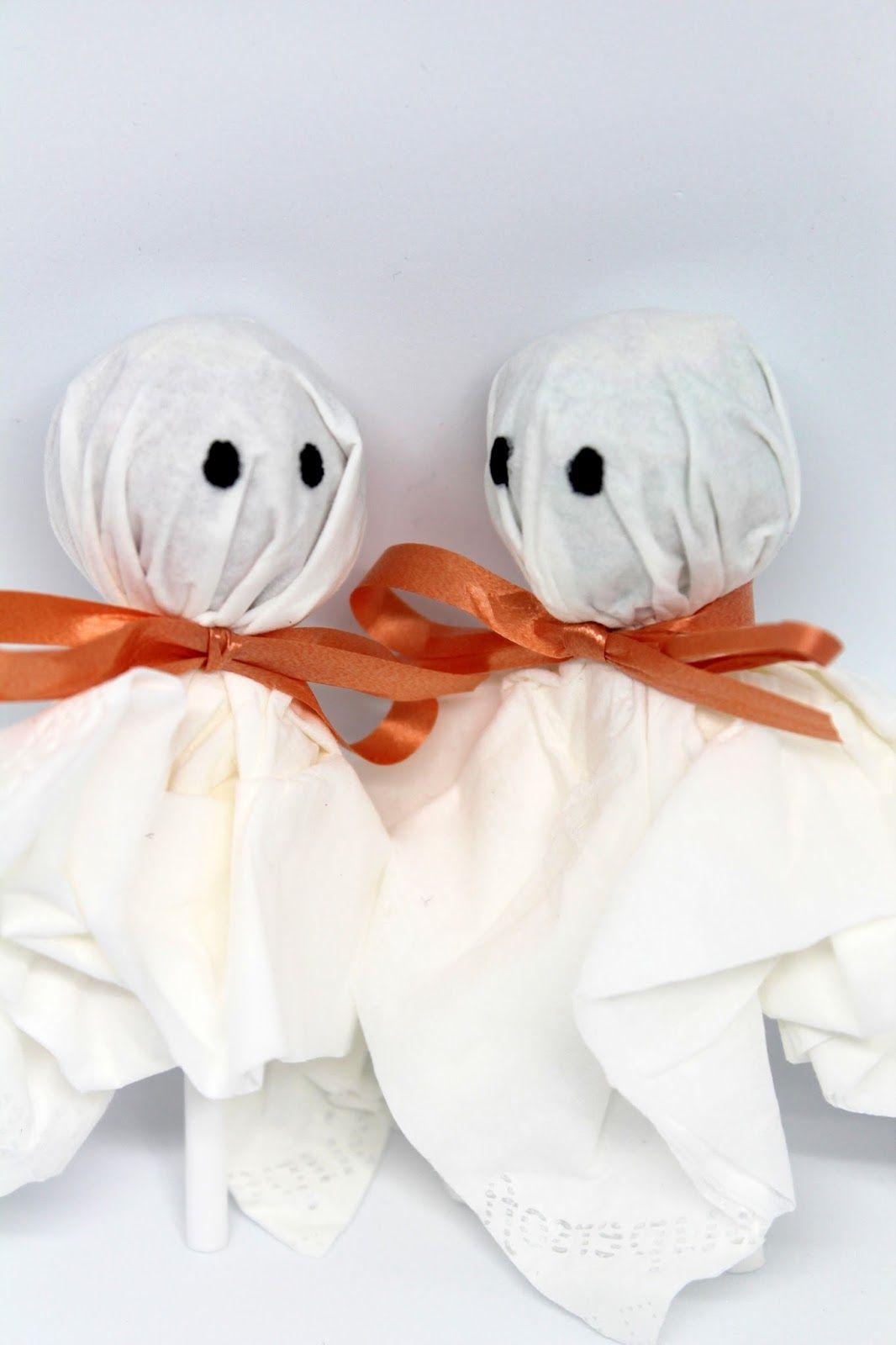 ♡ Süßes sonst gibt es saures! Mit diesem Lolly Gespenster DIY ...